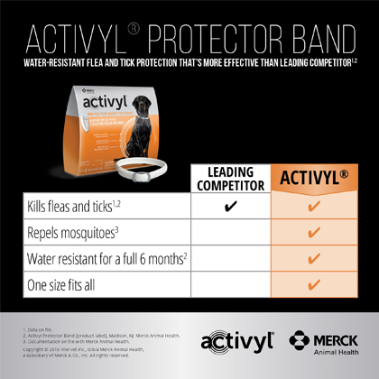 Activyl Protector Band: Water-Resistant Flea & Tick Protection that's more effective than leading competitors